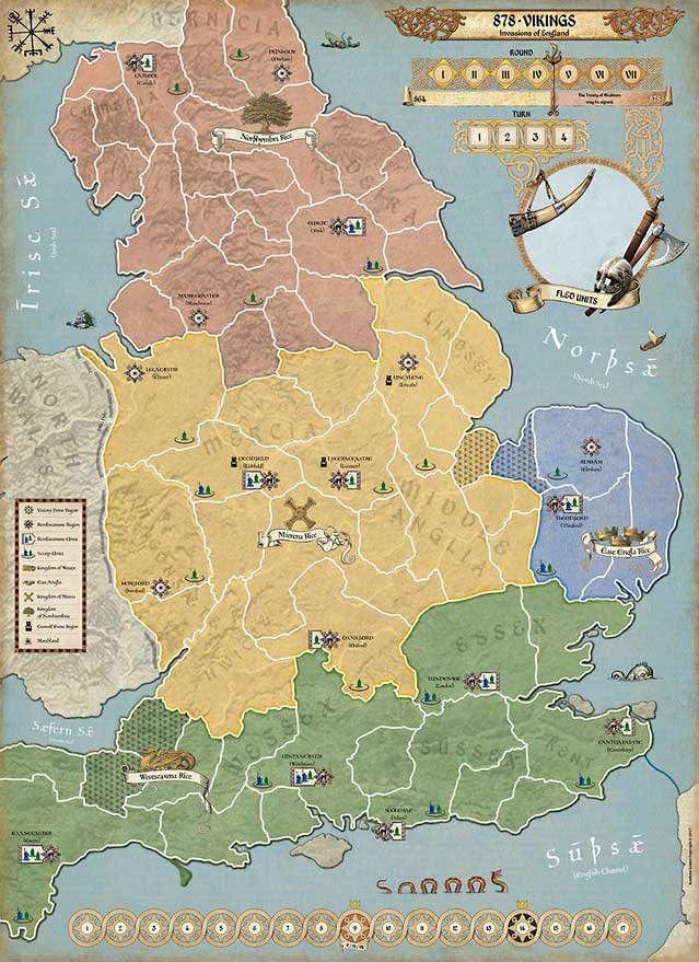 878 - Vikings : Carte