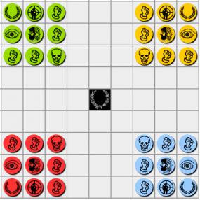 Djambi ; 4 joueurs