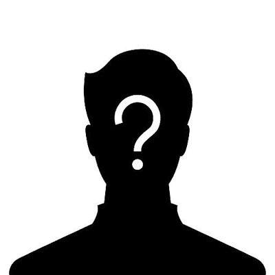 Identité cachée. Point d'interrogation sur visage noir (silhouette)
