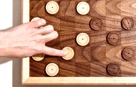 Déplacement des pièces au jeu de Dames