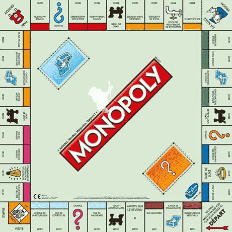 Plateau de jeu Monopoly