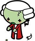 Mozart zombie tout vert