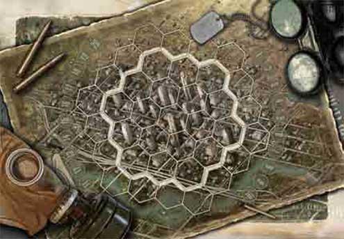 Neuroshima Hex : Plateau de jeu