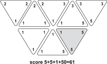 Triominos : Hexagone