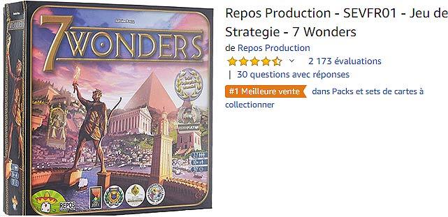7 Wonders : acheter