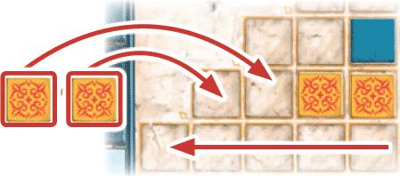 Azul : Placement des tuiles de droite à gauche