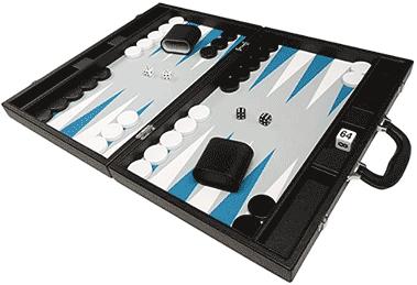 Backgammon noir et bleu