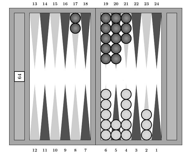 Backgammon : Phase du jeu : sortie