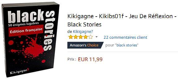 Black Stories : acheter