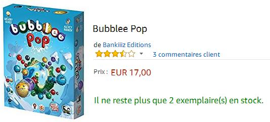 Bubblee Pop : acheter sur Amazon