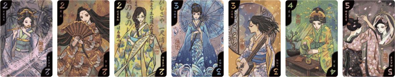 Hanamikoji :  les 7 Cartes Geisha