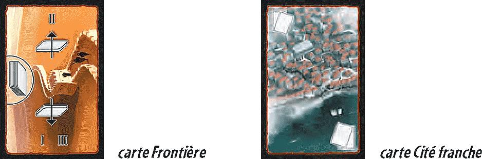 Cartes mystères. Que sont ces deux cartes dans 7 Wonders ? Carte Frontière et Carte Cité franche. Muraille de Chine.