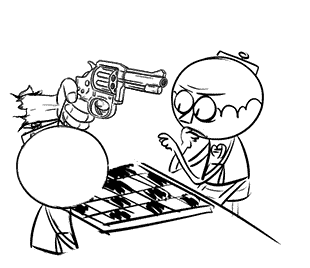 Joueurs d'échecs morts