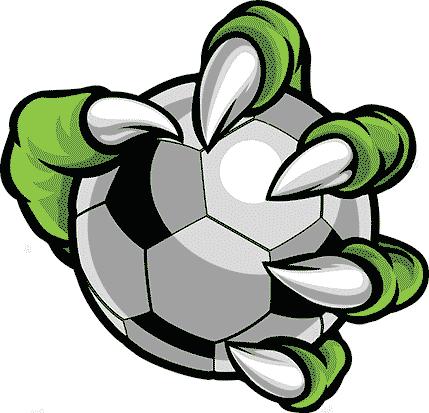 Dragon Ball. Patte de Dragon qui tient un ballon de foot