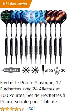 Fléchettes avec pointes en plastique souple