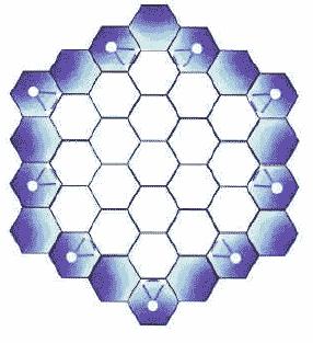 Hexagones d'eau