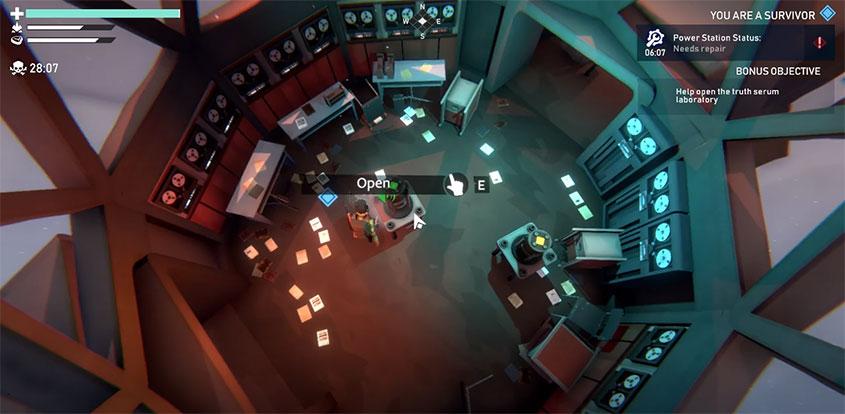 Project Winter : intérieur du Laboratoire