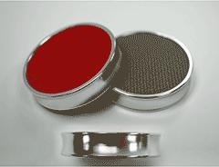Jetons de backgammon avec revêtement chromé métallisé