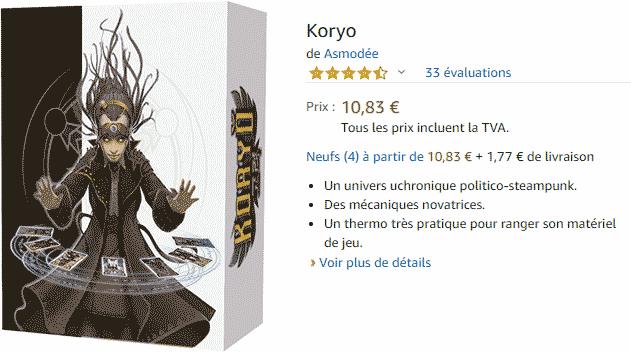 Koryo : acheter