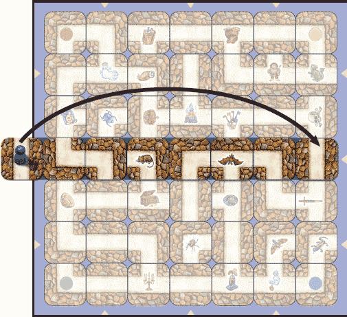 Labyrinthe Quand un pion sort du plateau