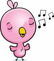Piupiu. Oiseau rose qui chante