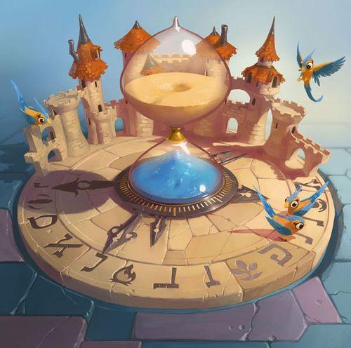 Sablier du Temps. Carte illustrée par Naïade