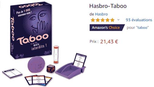 Taboo : Acheter le jeu