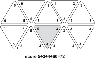 Triominos : Double Hexagone