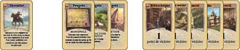 3 types de cartes Développement
