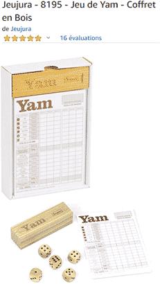 Yams : coffret en bois